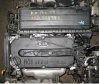 Контрактный (б/у) двигатель A5D Kia Rio / Spectra 1.5, 2000-2006